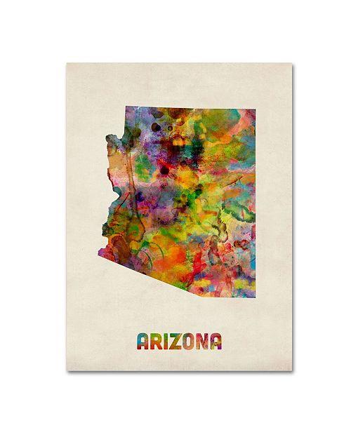 "Trademark Global Michael Tompsett 'Arizona Map' Canvas Art - 19"" x 14"""