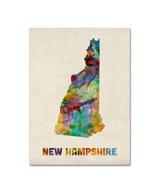 "Trademark Global Michael Tompsett 'New Hampshire Map' Canvas Art - 19"" x 14"""