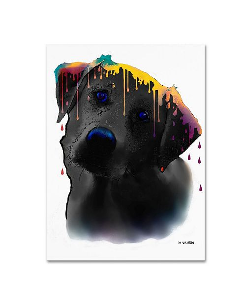 "Trademark Global Marlene Watson 'Labrador Yellow' Canvas Art - 18"" x 24"""