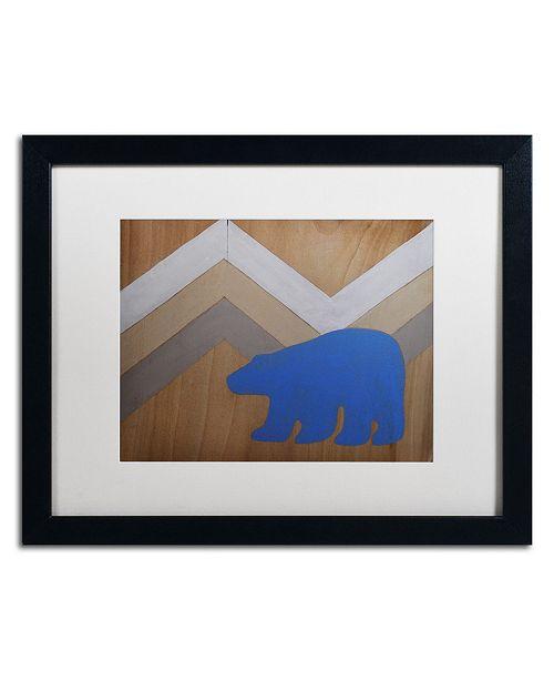 """Trademark Global Nicole Dietz 'Blue Polar Bear' Matted Framed Art - 16"""" x 20"""""""
