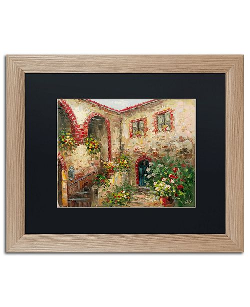 "Trademark Global Rio 'Tuscany Courtyard' Matted Framed Art - 16"" x 20"""