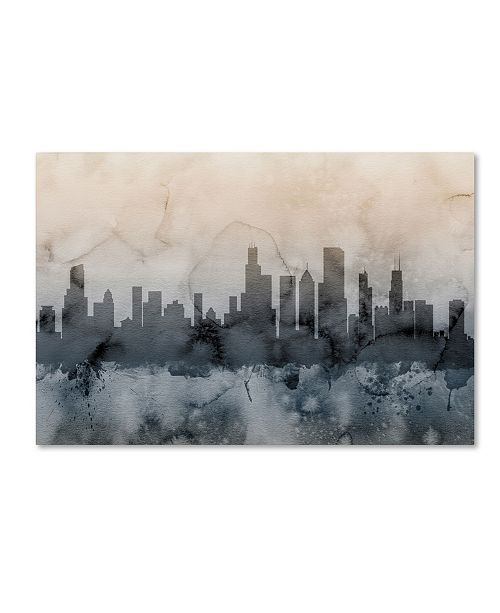 "Trademark Global Michael Tompsett 'Chicago Illinois Skyline V' Canvas Art - 16"" x 24"""