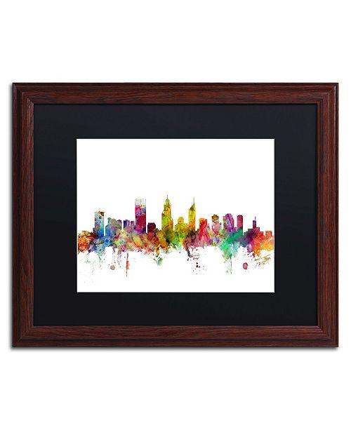"""Trademark Global Michael Tompsett 'Perth Australia Skyline' Matted Framed Art - 16"""" x 20"""""""
