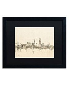 """Michael Tompsett 'San Francisco Sheet Music II' Matted Framed Art - 16"""" x 20"""""""