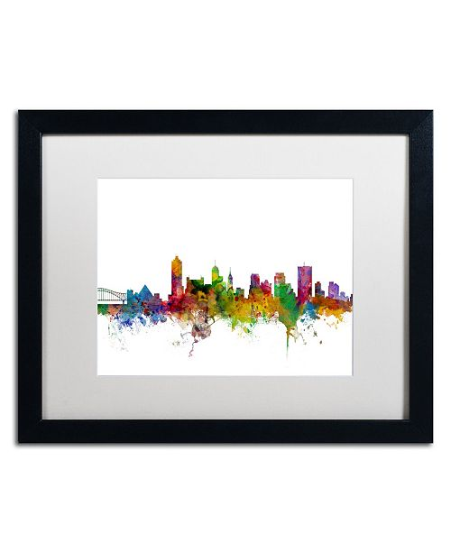 "Trademark Global Michael Tompsett 'Memphis Tennessee Skyline' Matted Framed Art - 16"" x 20"""