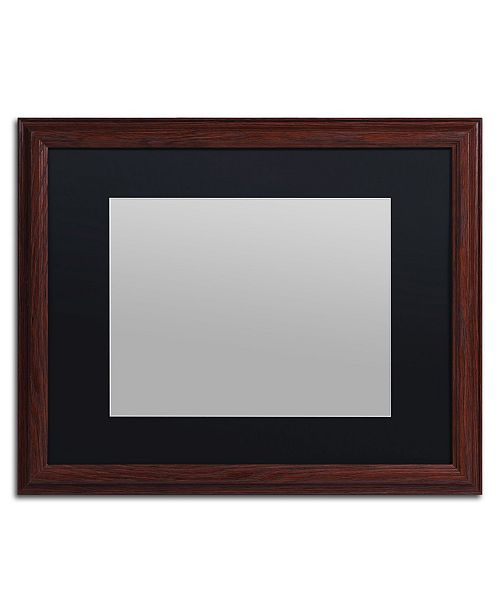 "Trademark Global Trademark Fine Art Heavy Duty Wood Frame with Black Mat - 16"" x 20"""