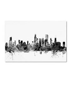 "Michael Tompsett 'Chicago Illinois Skyline B&W' Canvas Art - 22"" x 32"""