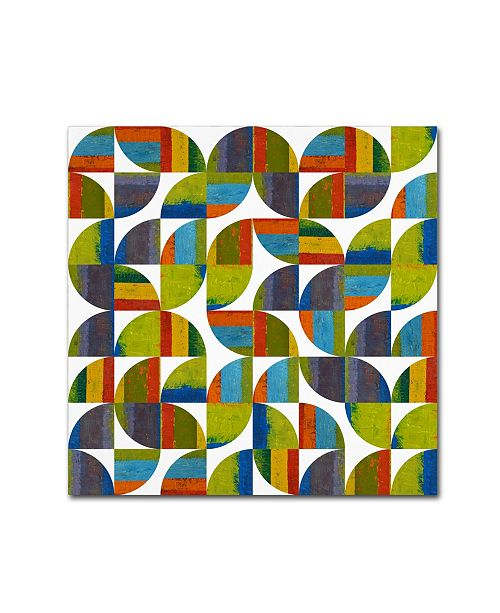 "Trademark Global Michelle Calkins 'Quarter Rounds 6.0' Canvas Art - 35"" x 35"""