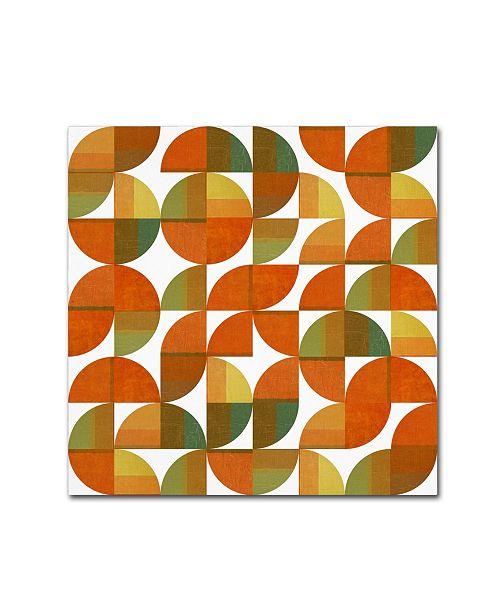 "Trademark Global Michelle Calkins 'Sixty Four Quarters' Canvas Art - 24"" x 24"""