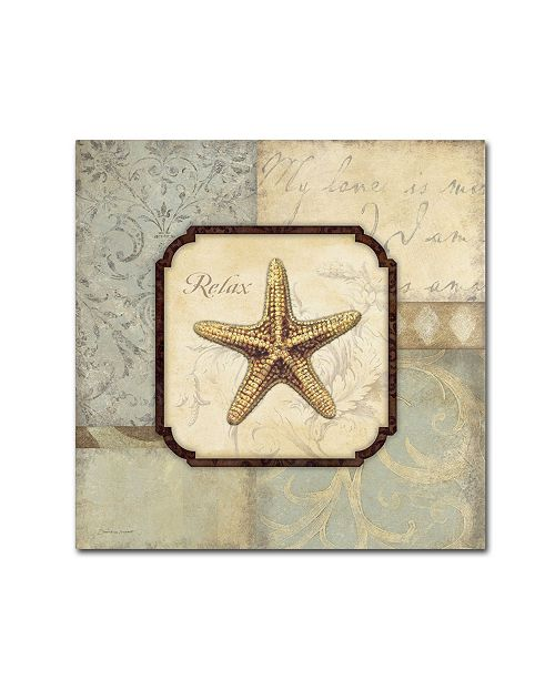 "Trademark Global Stephanie Marrott 'Relax Starfish' Canvas Art - 24"" x 24"""