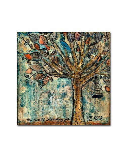 """Trademark Global Wyanne 'The World Is Waiting For You' Canvas Art - 35"""" x 35"""""""