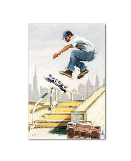 "Trademark Global The Macneil Studio 'Skater' Canvas Art - 30"" x 47"""