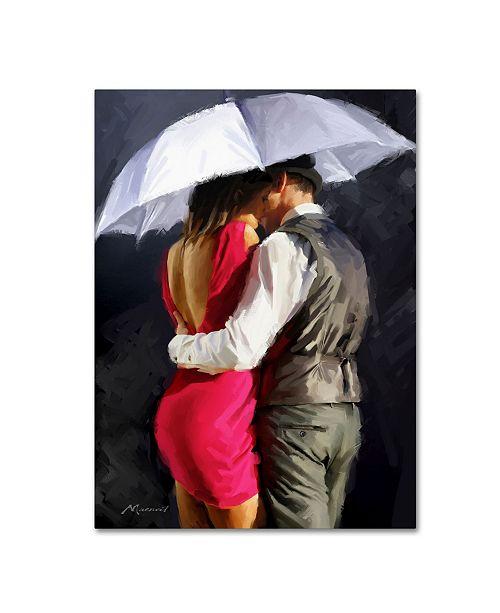 "Trademark Global The Macneil Studio 'Couple White Umbrella' Canvas Art - 24"" x 32"""