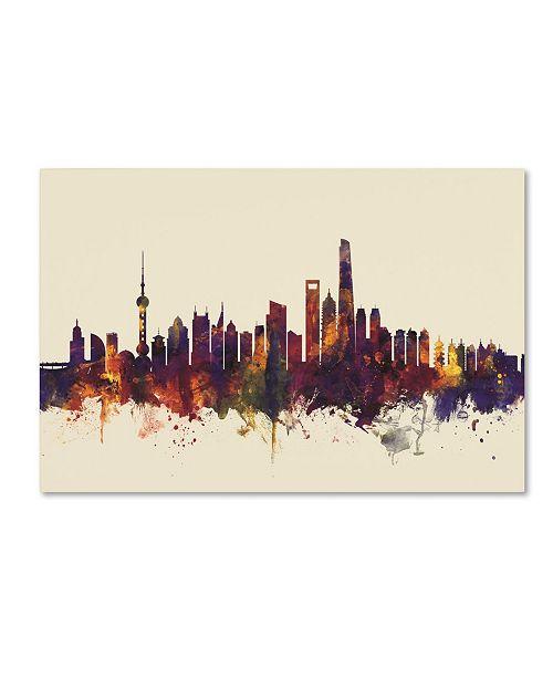"Trademark Global Michael Tompsett 'Shanghai China Skyline IV' Canvas Art - 30"" x 47"""