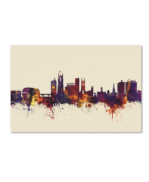 "Trademark Global Michael Tompsett 'Derby England Skyline IV' Canvas Art - 30"" x 47"""