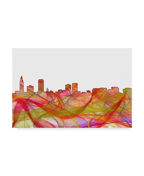"Trademark Global Marlene Watson 'Baton Rouge Louisiana Skyline' Canvas Art - 30"" x 47"""