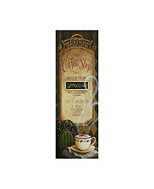 "Lisa Audit 'Coffee Shop Menu' Canvas Art - 8"" x 24"""