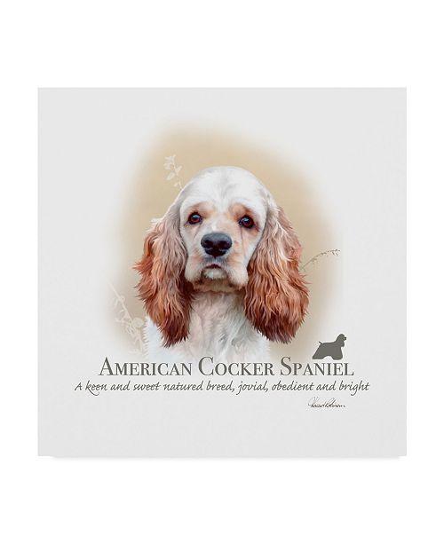 "Trademark Global Howard Robinson 'American Cocker Spaniel' Canvas Art - 35"" x 35"""