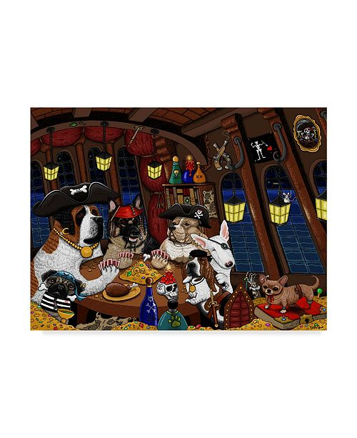 """Trademark Global Jake Hose 'Dogs Of The Caribbean' Canvas Art - 35"""" x 47"""""""