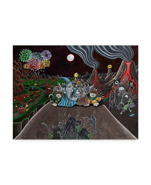 """Trademark Global Jake Hose 'Cats Of The Ring' Canvas Art - 35"""" x 47"""""""