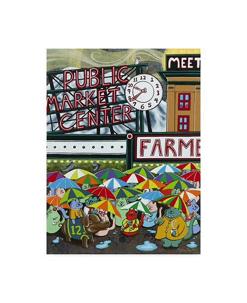 """Trademark Global Jake Hose 'Cats At Pike Place' Canvas Art - 35"""" x 47"""""""