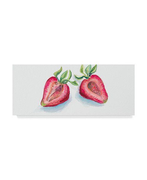 """Trademark Global Joanne Porter 'Cut In Half Berry' Canvas Art - 20"""" x 47"""""""