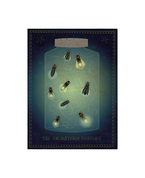 "Trademark Global John W. Golden 'Lightning Bugs' Canvas Art - 35"" x 47"""