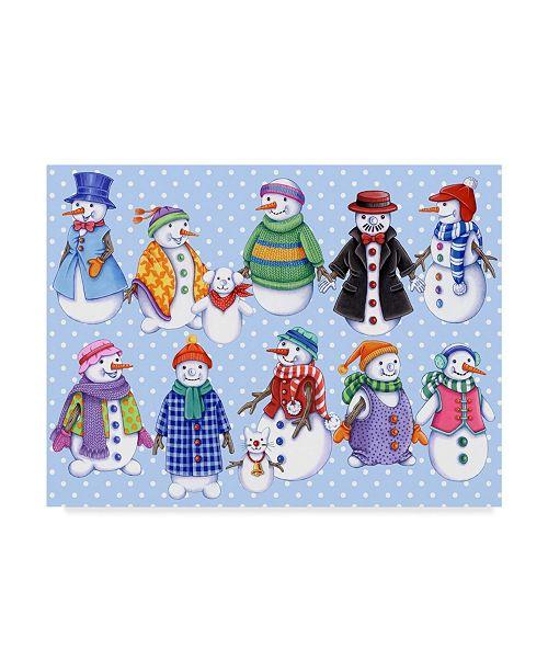 "Trademark Global Kimura Designs 'Snowmen Pattern' Canvas Art - 35"" x 47"""