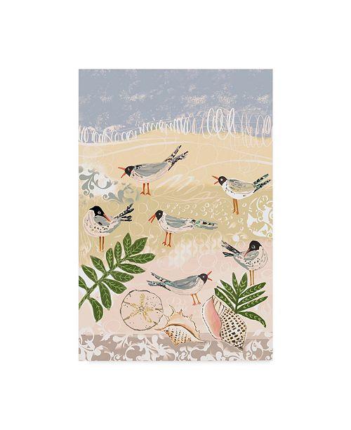 """Trademark Global Karen Fields 'Sea Birds' Canvas Art - 30"""" x 47"""""""