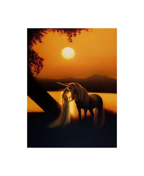 """Trademark Global Kirk Reinert 'Enchanted Evening' Canvas Art - 35"""" x 47"""""""