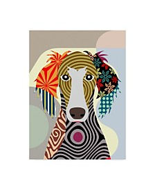 """Lanre Adefioye 'Saluki' Canvas Art - 35"""" x 47"""""""