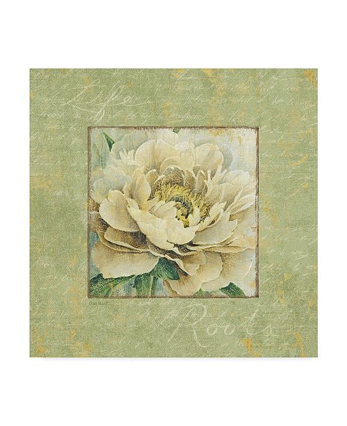 "Trademark Global Lisa Audit 'Quiet Petals I' Canvas Art - 35"" x 35"""