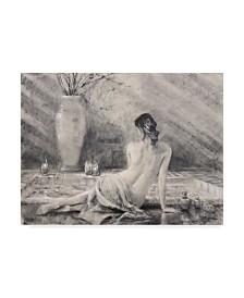 "Steve Henderson 'Before The Bath' Canvas Art - 35"" x 47"""