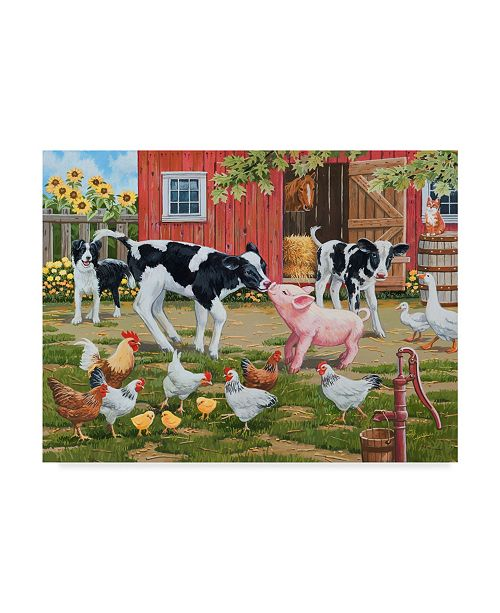 "Trademark Global William Vanderdasson 'Meeting New Friends' Canvas Art - 24"" x 32"""