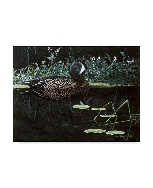 """Trademark Global Ron Parker 'Teal On Water' Canvas Art - 24"""" x 32"""""""