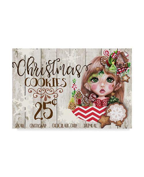 "Trademark Global Sheena Pike Art And Illustration 'Christmas Cookies' Canvas Art - 30"" x 47"""