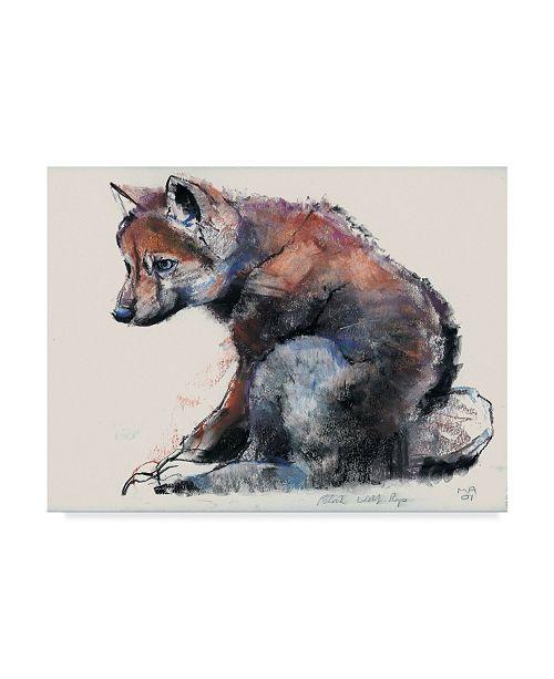 "Trademark Global Mark Adlington 'Polish Wolf Pup' Canvas Art - 35"" x 47"""
