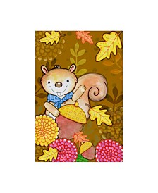 "Valarie Wade 'Fall Squirrel' Canvas Art - 22"" x 32"""