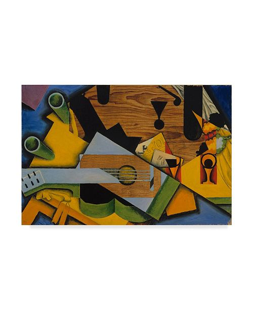 "Trademark Global Juan Gris 'Still Life with a Guitar, 1913' Canvas Art - 30"" x 47"""