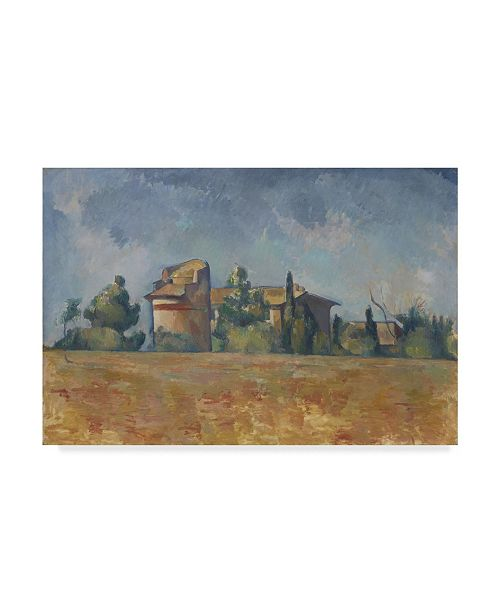 """Trademark Global Paul Cezanne 'The Dovecote At Bellevue' Canvas Art - 47"""" x 30"""""""