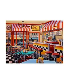 "Geno Peoples 'Peters Malt Shop' Canvas Art - 47"" x 35"""