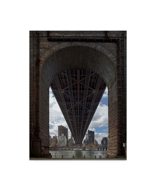 "Trademark Global Jason Matias 'Queens Boro Bridge Flat' Canvas Art - 35"" x 47"""