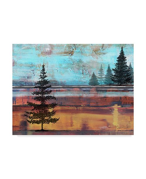 """Trademark Global Jean Plout 'Abstract Misty Landscape With Trees' Canvas Art - 47"""" x 35"""""""