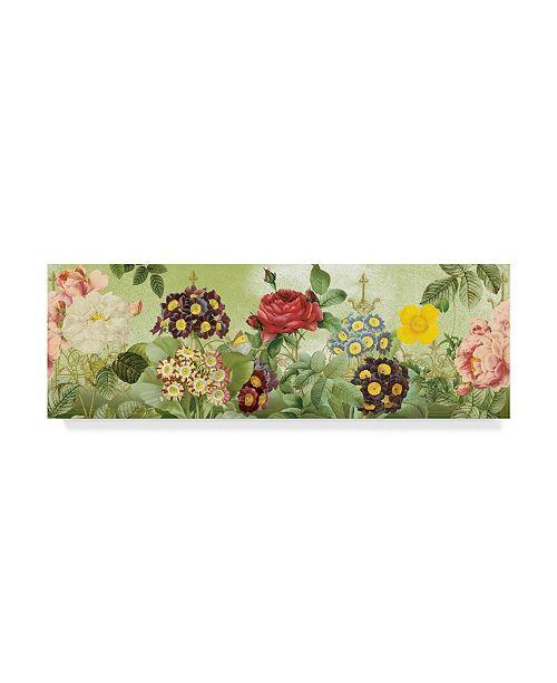 "Trademark Global Jean Plout 'Flower Garden Colorful' Canvas Art - 32"" x 10"""