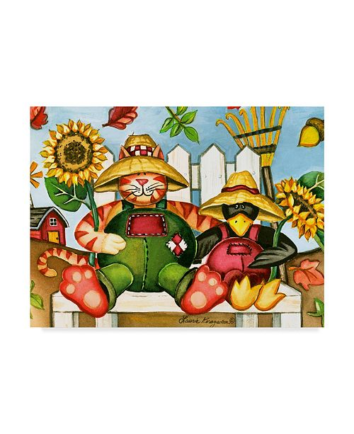 "Trademark Global Laurie Korsgaden 'Horizontal Animals' Canvas Art - 47"" x 35"""