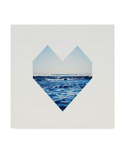 "Trademark Global Leah Flores 'Ocean Heart' Canvas Art - 35"" x 35"""