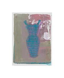 "Maria Pietri Lalor 'Wardrobe Pink And Blue' Canvas Art - 35"" x 47"""