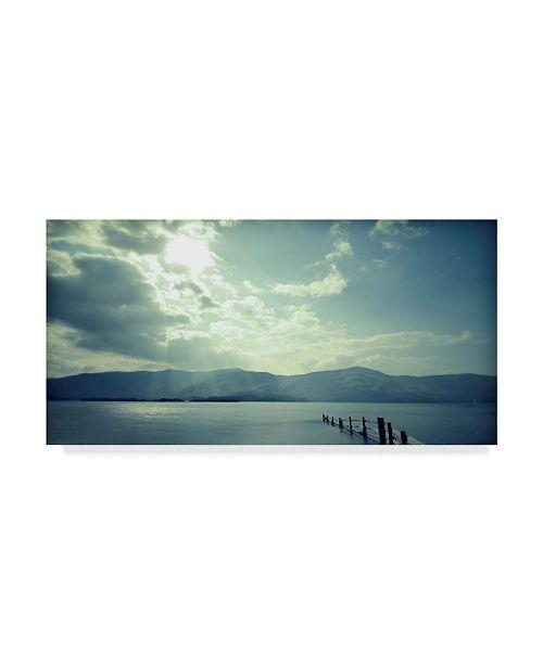 "Trademark Global Tom Quartermaine 'Blue Lake Clouds' Canvas Art - 47"" x 24"""