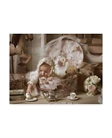 """Liz Zernich 'Victorian Baby' Canvas Art - 47"""" x 35"""""""