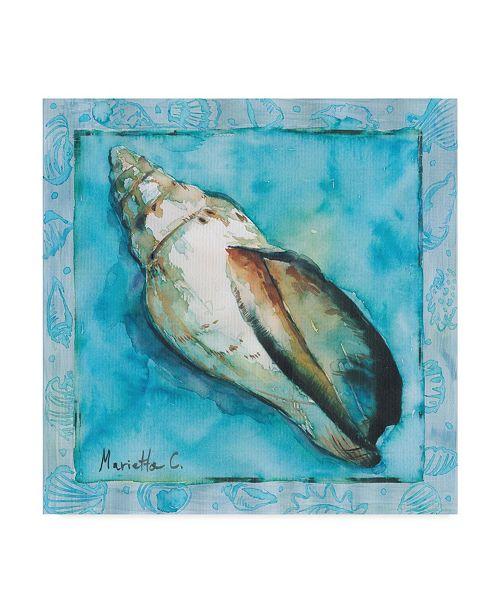 """Trademark Global Marietta Cohen Art And Design 'Shell Scallop 2' Canvas Art - 35"""" x 35"""""""